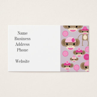 Cute Girly Pink Sock Monkey Girl Pattern Collage