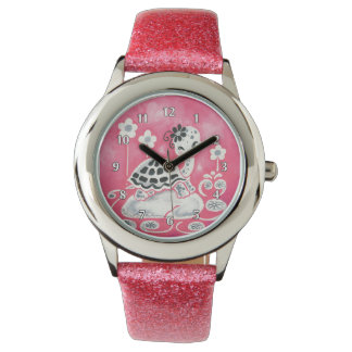 Cute Girly Pink Turtle Watches
