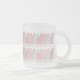 Cute Girly Plaid Cats Coffee Mug