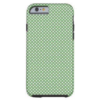 Cute Girly Polka Dots Green Tough iPhone 6 Case