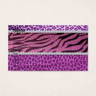 Cute Girly Purple Animal Print Diamond