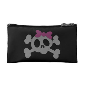 Cute girly skull cosmetic bag