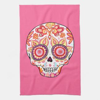 Cute Girly Sugar Skull Kitchen Towel