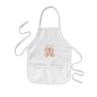 Cute Girly Sweet Adorable Baby Bunny Rabbit Kids Apron