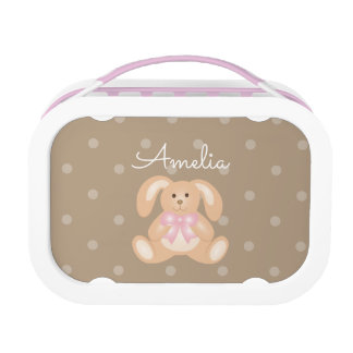 Cute Girly Sweet Adorable Baby Bunny Rabbit Kids Lunch Box