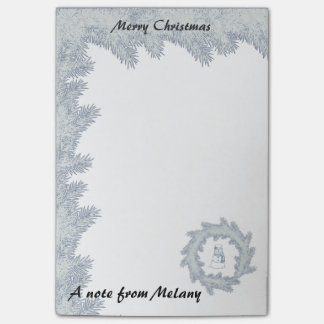 Cute girly trendy Holiday snowman monogram Post-it Notes