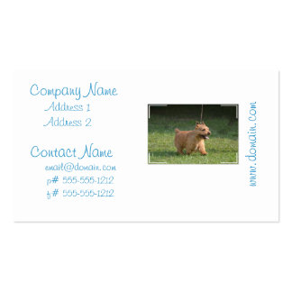 Cute Glen of Imaal Terrier Business Card Templates