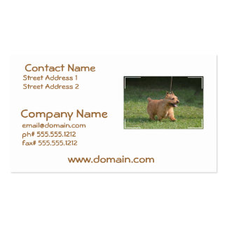 Cute Glen of Imaal Terrier Business Card Template
