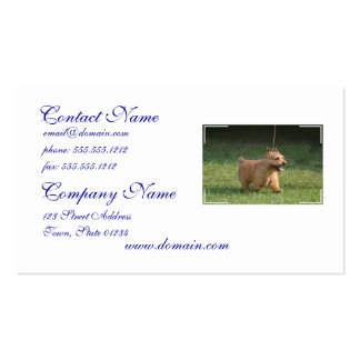 Cute Glen of Imaal Terrier Double-Sided Standard Business Cards (Pack Of 100)