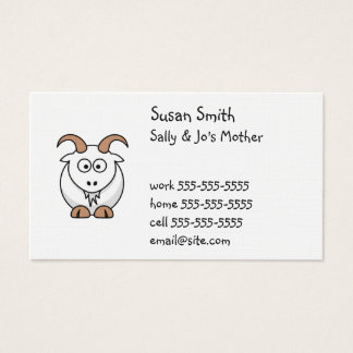 Cute Goat Business Card