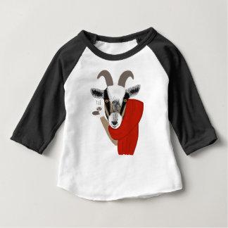 Cute Goat Drinking Hot Chocolate Baby T-Shirt