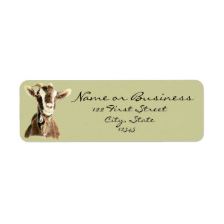 Cute Goat, Farm Animal, Pet Address Label
