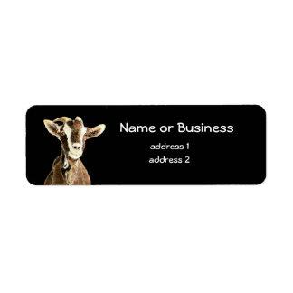 Cute Goat, Farm Animal, Pet Return Address Label