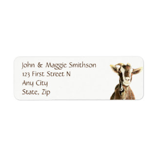 Cute Goat, Farm Animal, Pet Return Address Label