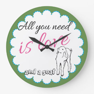 Cute Goat Saying Kitchen or Barn Clock