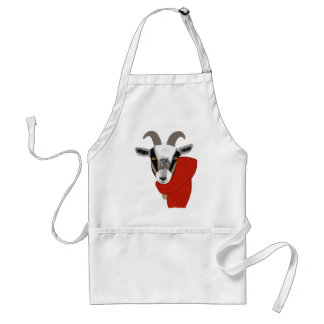Cute Goat Wearing a Scarf Standard Apron
