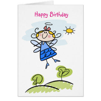 Cute Goddaughter Angel Personalized Card