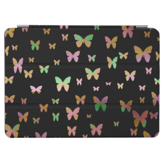 cute gold and rose gold faux foil butterflies iPad air cover