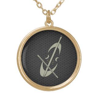 Cute Gold Cello Necklace