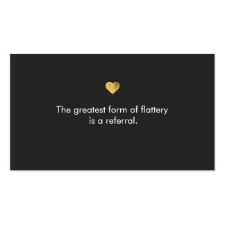 Cute Gold Heart Salon Referral Card Pack Of Standard Business Cards