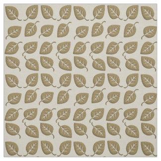 Cute Gold Leaf Muslin Texture Pattern Fabric