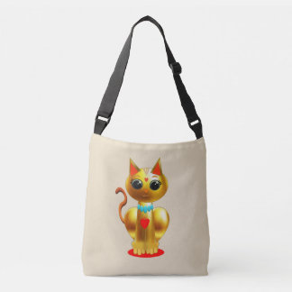 Cute Golden cat Crossbody Bag