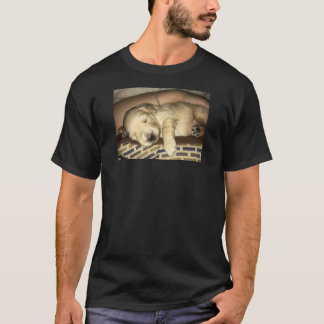 Cute Golden Doodle Retriever Sleeping Puppy T-Shirt
