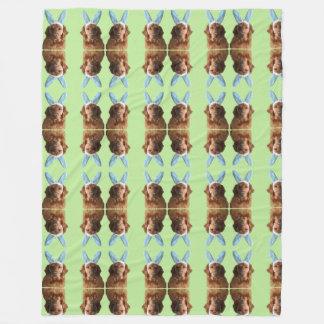 Cute Golden Easter Bunny Blanket