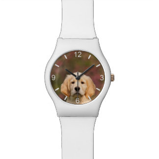 Cute Golden Retriever Dog Puppy - girly dial-plate Watch