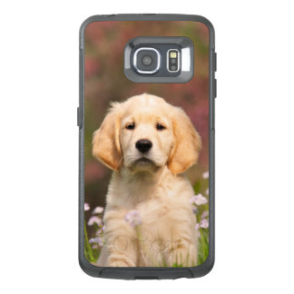 Cute Golden Retriever Dog Puppy Portrait - protect OtterBox Samsung Galaxy S6 Edge Case