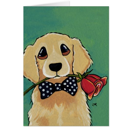 Cute Golden Retriever | Dog Thank You Card