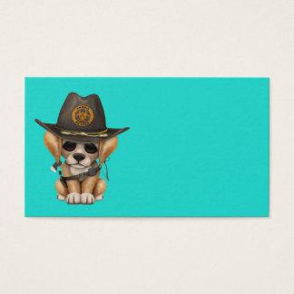 Cute Golden Retriever Puppy Zombie Hunter Business Card