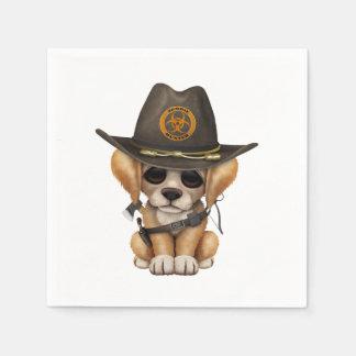 Cute Golden Retriever Puppy Zombie Hunter Disposable Serviette