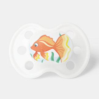 Cute goldfish im glass dummy