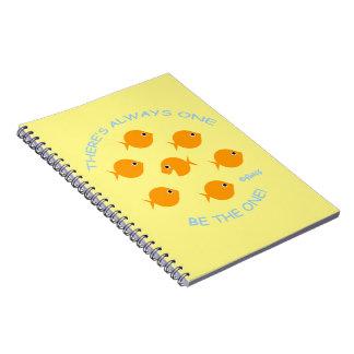 Cute Goldfish with Inspirational Teacher Motto Notebooks