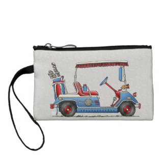 Cute Golf Cart Coin Purse