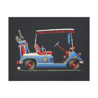 Cute Golf Cart Gallery Wrap Canvas