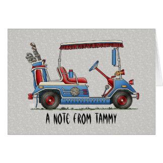 Cute Golf Cart Note Card