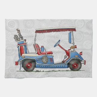 Cute Golf Cart Tea Towels