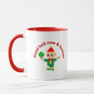 Cute good luck earth angel mug