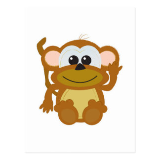 Cute Goofkins monkey Postcard