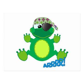 Cute Goofkins pirate froggy Postcard
