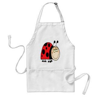 cute goofy cartoon grinning little ladybug standard apron