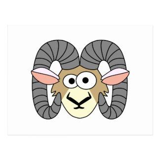 Cute Goofy Ram Sheep Postcard
