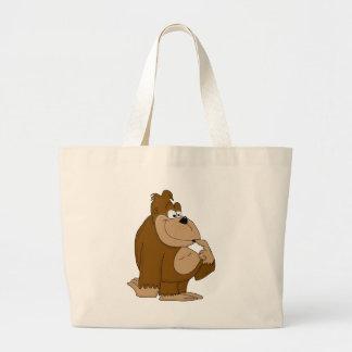 Cute gorilla jumbo tote bag