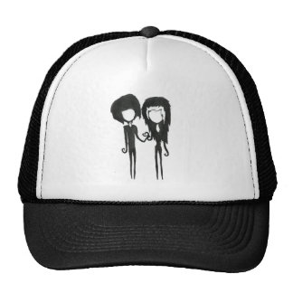 Cute Goth Emo Alternative Girl and Boy Couple Cap