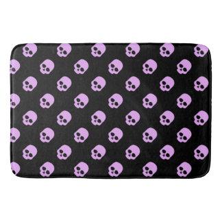 Cute Goth Pink Skulls Bath Mat