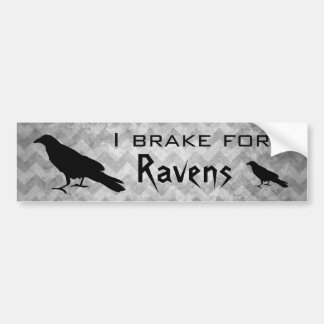 Cute goth ravens bumper sticker
