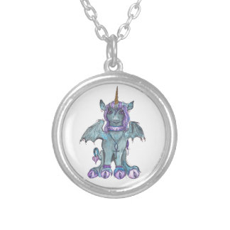 Cute Goth Unicorn Necklace