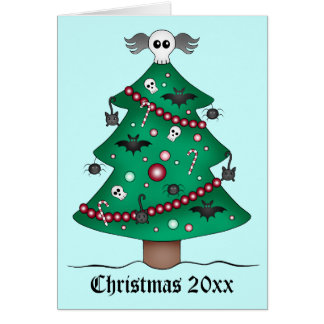 Cute gothic Christmas tree Card
